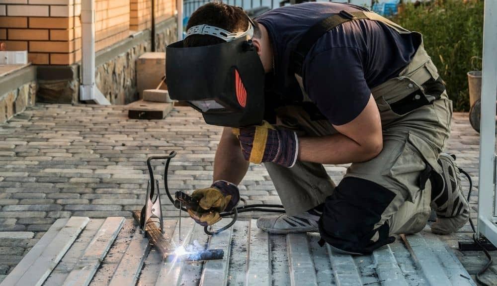 shop based welding on steel